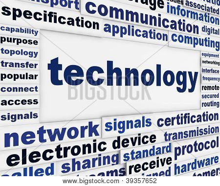 Technology creative poster design
