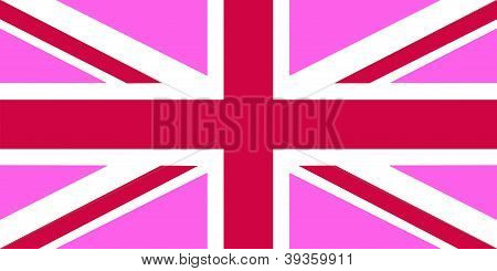 United Kingdom Pink Flag