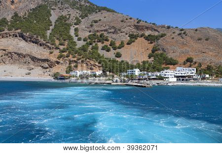 Aghia Roumeli bay at Crete, Greece