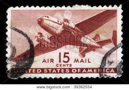 Two Engine Transport Plane