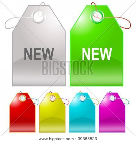 New. Raster tags. Vector version is in my portfolio.