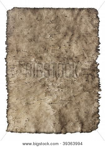 Old Cracked Sheet Of Parchment In A Grunge Style