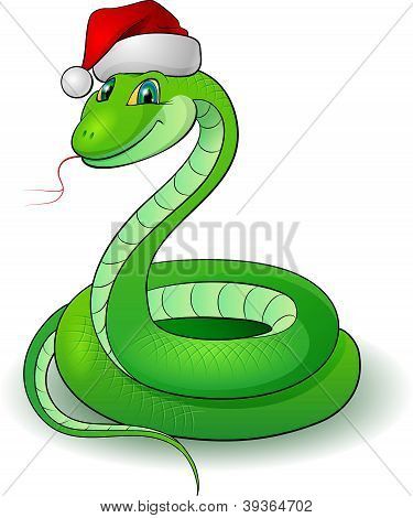 Cartoon illustration of a snakes