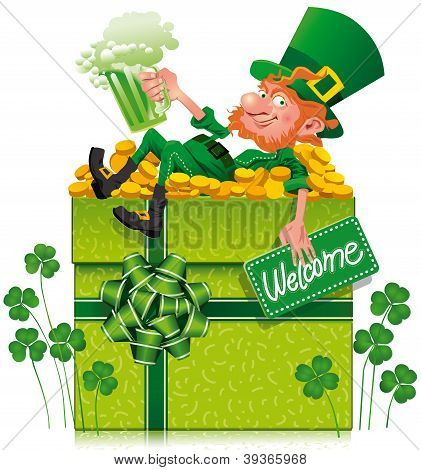 Leprechaun With Box