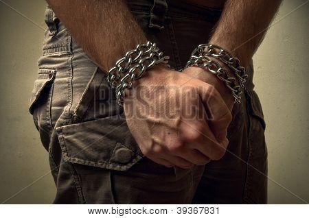 Hände in Ketten