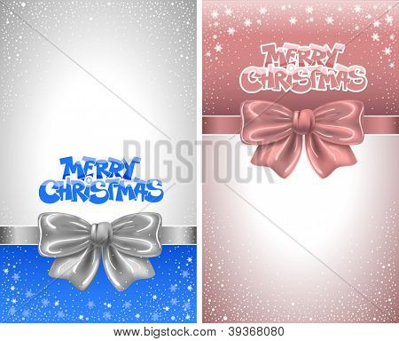 Festive backgrounds with bows and copy space