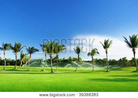 Irrigação de golfe na República Dominicana