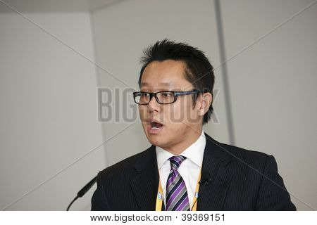 Madrid, Spain, Nov 13, 2012 - Vice President Sap Cloud Business Unit Roy Ng Makes Speech At Sapphire