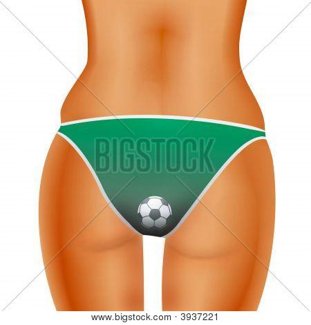 Fã de futebol sexy