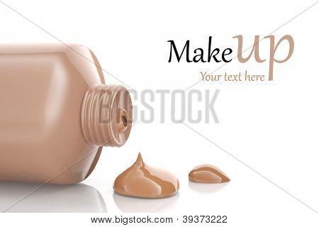 Makeup foundation cream isolated on white background