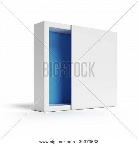 Opened white Modern Box
