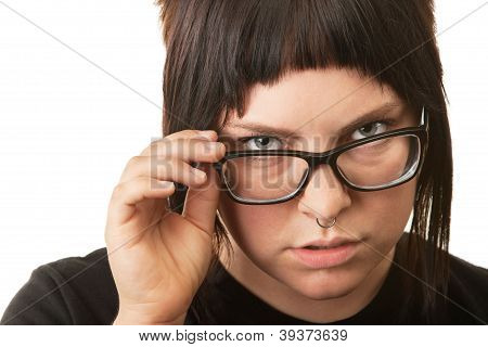 Serious Female Teenager