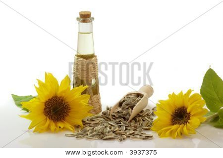 Sunflower Oil In A Bottle
