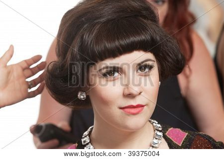 Woman With Hair Stylists