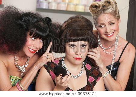 Trio Of Women In Hair Salon