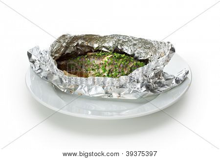 Fish in Foil with Herbs