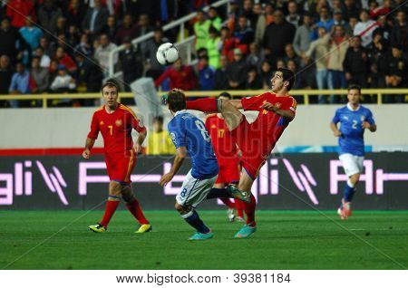 YEREVAN - OCT. 12:Henrikh Mkhitaryan  of Armenian National Team during the match Armenia-Italy 1:3 2014 FIFA World Cup qualification round October 12, 2012, Hrazdan stadium, Yerevan, Armenia