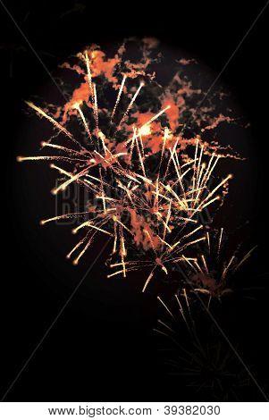 Colorfu fireworks