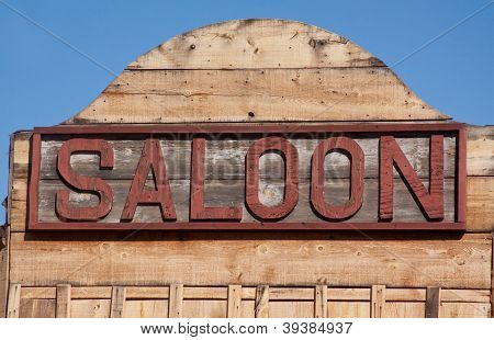 Old Western Saloon Sign