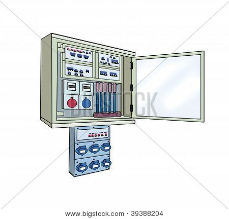 electrical cabinet isolated