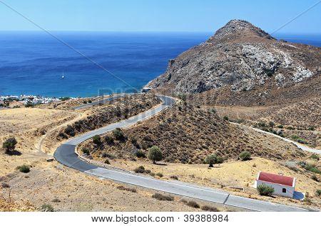 Lendas bay at Crete island, Greece