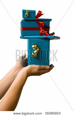 Hands Holding Gifts