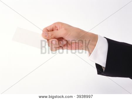 Negócio corporativo - mão do cartão de