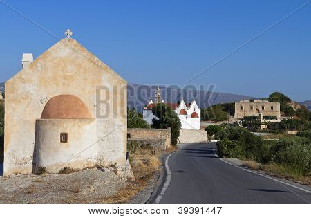 Etia village at Crete island, Greece