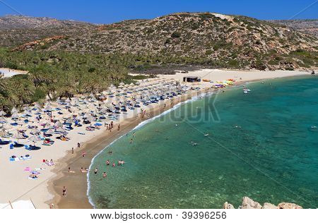 Vai beach at Crete island in Greece