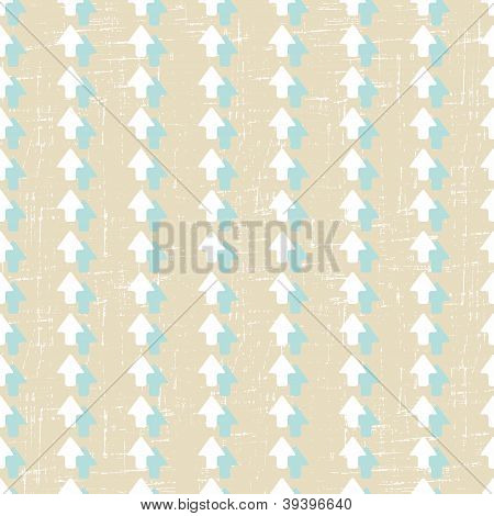 Seamless pattern with old scratched arrows. Grunge texture.