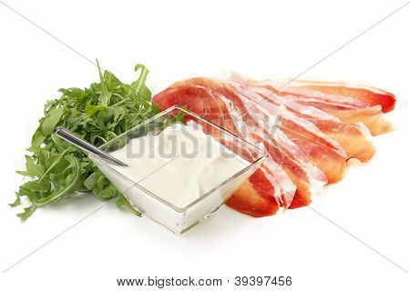 ham cheese and rocket