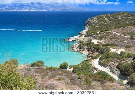 Mirabello bay at Crete island in Greece