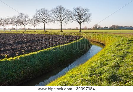 Plowed Field In Autumn