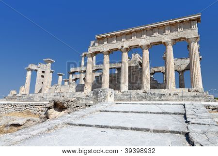 Temple of Afaia at Aegina in Greece.