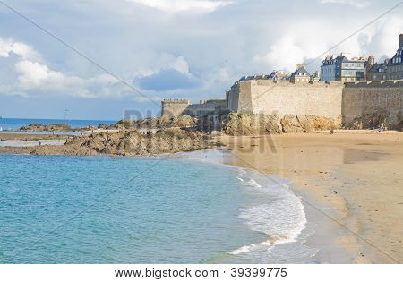 old town of  Saint Malo,Brittany, France