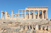 stock photo of argo  - A view of the Doric temple of Aphaia on Aegina island in the Saronic Gulf - JPG