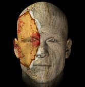 Weathered Statue Head poster