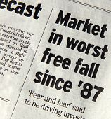 foto of stagnation  - Newspaper headlines that say  - JPG