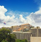 The City Walls Of Dubrovnik, Croatia. Oldtown