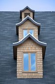 image of gabled dormer window  - Column of dormer windows - JPG