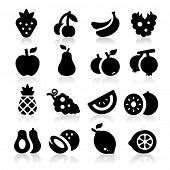 stock photo of cantaloupe  - Fruits icons - JPG