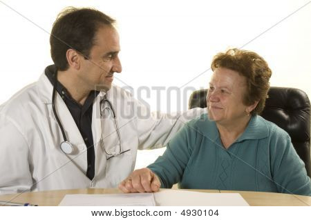 Senior Patient At Doctor's Consultation