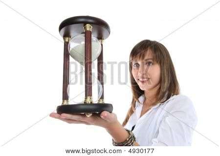 Business Woman With Hourglass