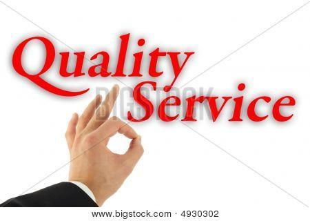 Concepto de servicio de calidad