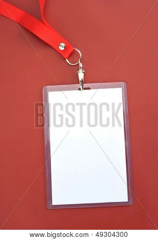 Blank backstage pass to put your own text on