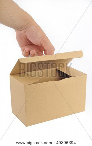Turns on the paper box
