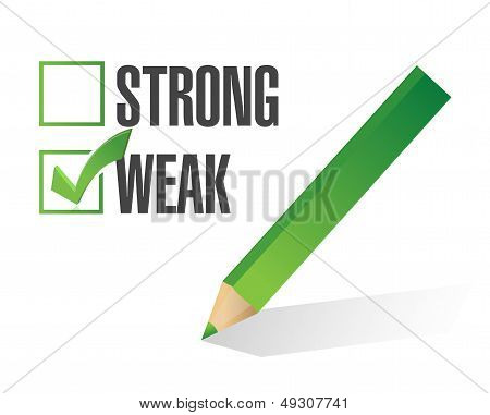 Weak Over Strong Selection Illustration