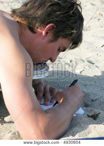 Writer On The Beach