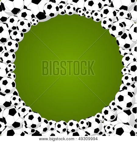 Brazil 2014 World Soccer Championship Circle Shape Balls Illustration.