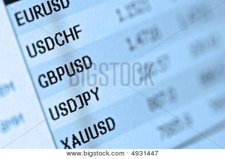 Cotações de mercado